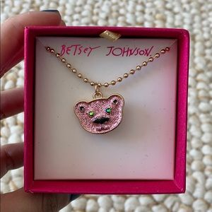 BETSEY JOHNSON Bear Gold Necklace NEW